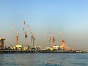 Башенные краны Potain создают новый курорт Palm Jumeirah в Дубаи